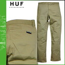 HUF Hough chino pants chino pants [khaki] FULTON CHINO PANT men HUFPT34002 [2/22 Shinnyu load] [regular]★★