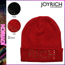 Point 10 times Joey rich JOYRICH beanie knit hat [black red] U1404KC men gap Dis knit cap unisex [regular]