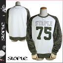 Stay pull STAPLE sweat shirt trainer [olive] BROOKS RAGLAN CREWNECK men 1401C1999 [regular]