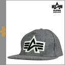 Point 2 x Alpha INDUSTRIES ALPHA snap back Cap [Gray] UNIVERSITY CAP men Hat [genuine]