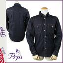 ピーアールピーエス PRPS Long Sleeve Denim Western shirt [rinse] LW WESTERN SHIRT men's shirt [genuine]