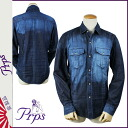 PR P S PRPS long sleeves denim shirt [indigo] DENIM SHIRT men shirt [regular]