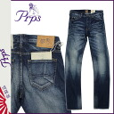 PR P S PRPS Kinney denim jeans [medium blue] GREMLIN SCARRED DENIM men jeans [3/31 Shinnyu load] [regular]