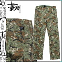 ステューシー STUSSY military underwear [olive duck] RIPSTOP CAMO POCKET PANT men [regular]