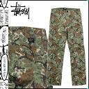 ステューシー STUSSY military underwear [olive duck] RIPSTOP CAMO POCKET PANT men [regular] 02P31Aug14
