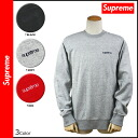 Supreme Supreme men's Sweatshirts trainer 3 color QUILTED PANEL CREWNECK SWEAT [genuine]