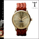 Thoria TRIWA watch [gold X brown] GOLD LANSEN BROWN MONO BRAIDED men gap Dis unisex LAST108 [regular]