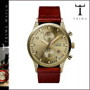 Point double thoria TRIWA watch [gold X cognac] GOLD LANSEN CHRONO COGNAC CLASSIC men gap Dis unisex LCST103 [regular]