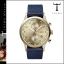 Tri TRIWA watches [gold / Navy, GOLD LANSEN CHRONO NAVY CLASSIC CANVAS mens Womens unisex LCST103 [4 / 12 new stock] [regular]