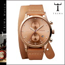 Point 5 x Tri TRIWA watches [rose gold x Tan] ROSE LANSEN CHRONO TAN TWIST mens Womens unisex LCST104 [4 / 14 new in stock] [regular] fs04gm05P06May14