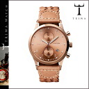 Thoria TRIWA watch [the Rose gold X tongue] ROSE LANSEN CHRONO TAN BRAIDED men gap Dis unisex LCST104 [4/14 Shinnyu load] [regular] fs04gm 05P06May14