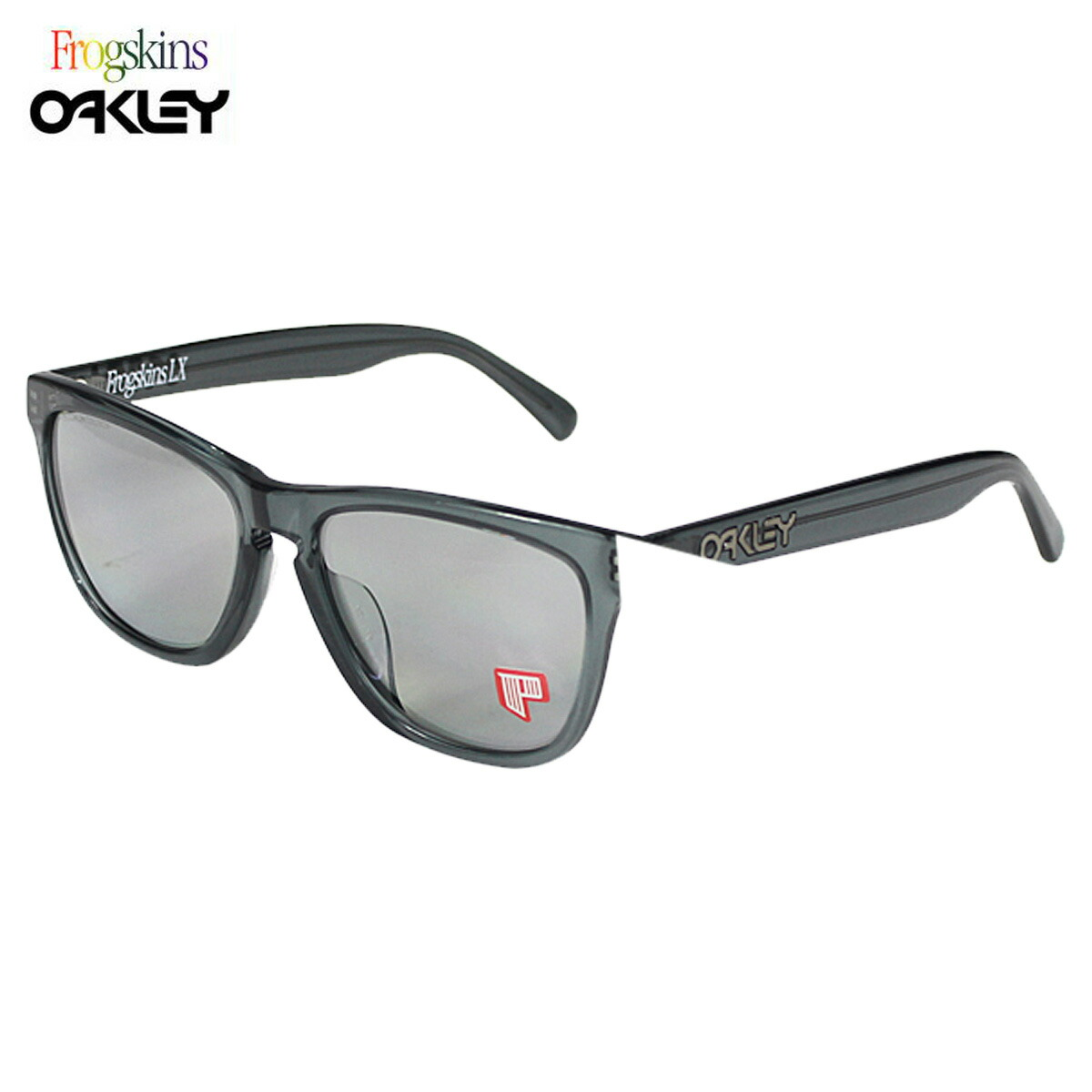 oakley frogskins lx polarized sunglasses  oakley oakley sunglasses polarized frogskins lx polarized frog skin mens womens polarized lens glasses asian fit oo2039 04 unisex