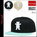 2 color GRIZZLY OG LOGO STARTER SNAPBACK HAT [7/16 Shinnyu loads] [regular] latest for point 10 times diamond supply Diamond Supply Co X GRIZZLY snapback cap men 2,014 years