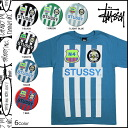 Point 2 x Stussy STUSSY short sleeve T shirt TEE 6 color STRIPES mens T-SHIRT tee shirt [regular] 02P05July14