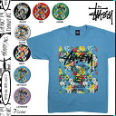 7 color WT FLOWER BLOCK TEE [6/17 Shinnyu load] latest for ステューシー STUSSY T-shirt T-shirt men floral design 2,014 years [regular]