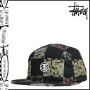 ステューシー STUSSY camping cap [black] BATIK CHECK CAMP CAP men [regular]