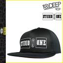 10% off ★ points 2 x 10 DEEP deep transcontinetal x Studio one collaboration with 2014, STUDIO ONE Cap Hat mens new black STUDIO 1 FOAM SNAPBACK [regular] 02P01Mar15