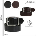 J.crew J.Crew leather belt reversible men's business 2014, new black / dark chocolate FACTORY REVERSIBLE LEATHER BELT [8 / 12 new stock] [regular]