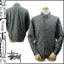 Black PAISLEY L/SL SHIRT [9/16 Shinnyu load] [regular] latest for ステューシー STUSSY long sleeves button shirt men 2,014 years★★