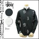 Stussy STUSSY button-down shirt men's 2014, new 2 color MONEY L/SL SHIRT [regular]