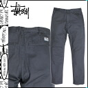 Stussy STUSSY Chino pants dark grey WASHED CHINO, Chino pants men's long pants new? PANT [regular]