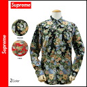 Point 2 x Supreme Supreme short sleeve button shirt with mens pattern in 2014, new 2 color FLOWERS SHIRT [10 / 14 new in stock] [regular]
