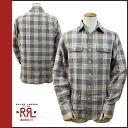 Double Aurel RRL DOUBLE RL long sleeve button shirt with mens casual shirt check brown / beige l/s BUTTON SHIRTS [regular]