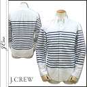 J.crew J.Crew shirt men's Oxford shirt border pattern in 2014, new white SLIM VINTAGE OXFORD SHIRT IN HORIZONTAL STRIPE [11 / 17 new in stock] [regular] ★ ★