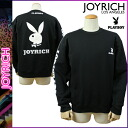Mickey Mouse No1 JOYRICH×PLAYBOY trainers mens ladies crew neck Playboy collaboration W name 2014, new black PLAYBOY CREW unisex [10 / 30 new in stock] [regular]