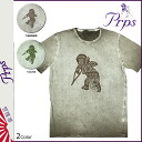 Point 2 x Pierre rupees PRPS short sleeve T shirt mens cut & sew 2014, new 2 color COTY [10 / 30 new in stock] [regular] ★ ★ 02P01Nov14