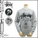 Stussy STUSSY trainer men's Sweatshirts world tour in 2014, new 4 color WORLD TOUR CREW [11 / 6 new in stock] [regular] ★ ★