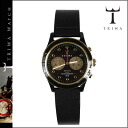 Tri TRIWA ladies watch 38.5 mm watch watch leather 2014 stock DCAC102 black x ebony gold EBONY GOLD BRASCO CHRONO [11 / 11 new stock] [regular]