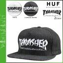 Point 2 x HUF Huff x THRASHER Snapback Cap mens collaboration Hat 2014 new 2 color ASIA TOUR SNAPBACK [regular] 02P01Mar15