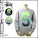 Point 2 x Stussy STUSSY sweat trainer mens crew neck in 2014, new 2 color BIG S FADE CREW [12 / 4 new in stock] [regular] ★ ★ P06Dec14