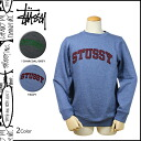 Stussy STUSSY sweat trainer men's 2015 receipt 2 color FELT ARC CREW [1 / 5 new in stock] [regular] ★ ★