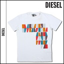 Diesel DIESEL T shirts shirt mens white [genuine]