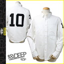 Deep transcontinetal 10. deep button-down shirt men's 2014 HOLIDAY COLLECTION in 2015 in stock white BIG 10 BTTNDOWN [1 / 14 new in stock] [regular]