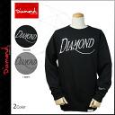 Diamond supply Diamond Supply Co crewneck sweatshirts trainer men's 2015 receipt 2 color OLD SCRIPT CREWNECK SWEAT [1 / 14 new in stock] [regular] ★ ★