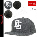 Diamond supply Diamond Supply Co Cap Hat mens 2015 new 3 color SFDS HERRINGBONE STRAPBACK [1 / 15 new in stock] [regular] []