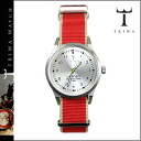 Tri TIWA watches mens Womens LAST102 MO012612 35 mm watch watch red stripe STERLING LANSEN NATO unisex [1 / 9 new in stock] [regular] ★ ★