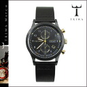 Tri TRIWA watches mens Womens LCST108 CL010113 38 mm leather watch watch black x Gold MIDNIGHT LANSEN CHRONO unisex [1 / 14 new in stock] [regular] ★ ★