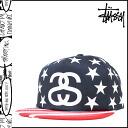 Stussy STUSSY Cap snap back Cap mens 2015 spring summer new Navy STARS STRIPES CAP [4 / 1 new in stock] [regular] ★ ★