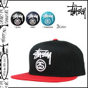 Stussy STUSSY Cap snap back Cap mens 2015 spring summer new 3 color STOCK LOCK 2-TONE SP15 CAP [4 / 1 new in stock] [regular]