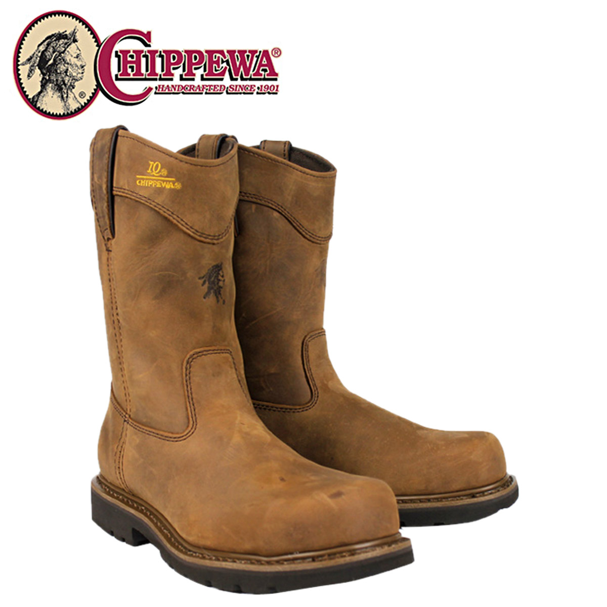 Leather Steel Toe Work Boots - Cr Boot