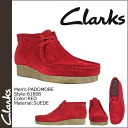 Clarks CLARKS Padmore boot Wallaby 61808 PADMORE SUEDE mens RED WALLABEE