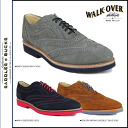 Point double walkover WALK OVER wing tip saddle shoes R00334 R00316 R00322 CAMBRIDGE MIDI Cambridge suede cloth men 02P13Dec13_m