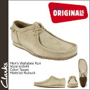 Clarks originals Clarks ORIGINALS boots Wallaby 63549 nubuck men's WALLABEE RUN