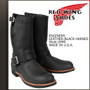 Redwing RED WING Engineer Boots 2990 Engineer Boot leather mens Made in USA Red Wing