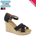TOMS SHOES Toms shoes strap wedge sole ladies Sandals 024001B Canvas Women's Strappy Wedges cotton 2013 new Toms Toms shoes