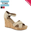 TOMS SHOES Toms shoes strap wedge sole ladies Sandals 024131B Women's Strappy Wedges cotton 2013 new Toms Toms shoes